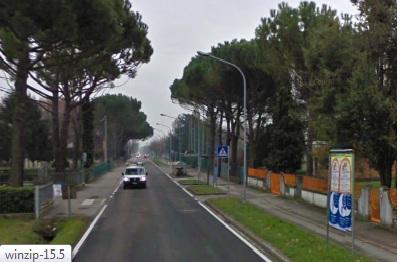 Villafranca di Forlì via XIII Novembre strada
