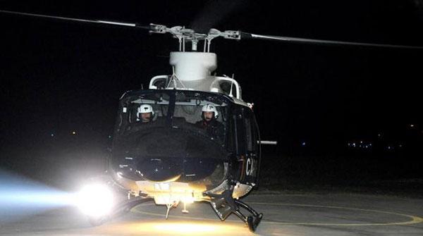 elicottero carabinieri notte