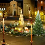 Piazza Saffi a Natale foto Maicol Cortesi