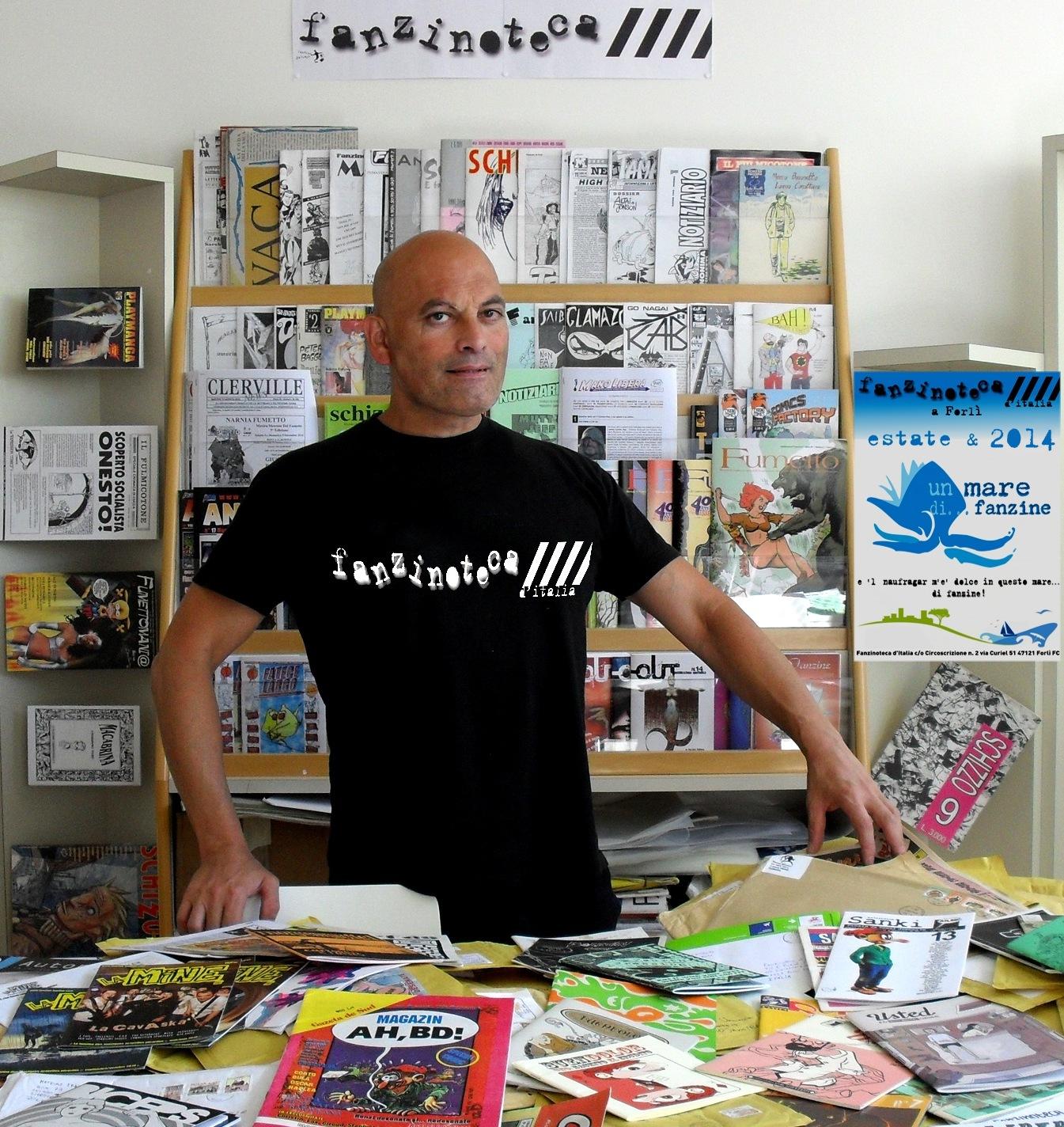 """""""Un Mare di... Fanzine"""" alla Fanzinoteca d'Italia e l'esperto Fanzinotecario Gianluca Umiliacchi 2014"""