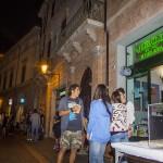 Corso Garibaldi di sera a Forlì centro storico