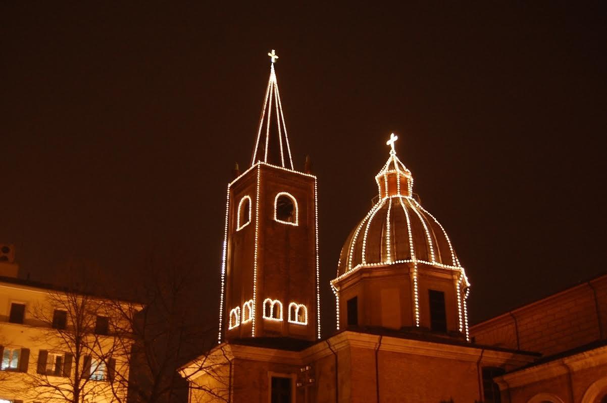 duomo di Forlì illuminazione natalizia