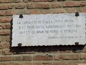 versi di dante a Forlì San Mercuriale