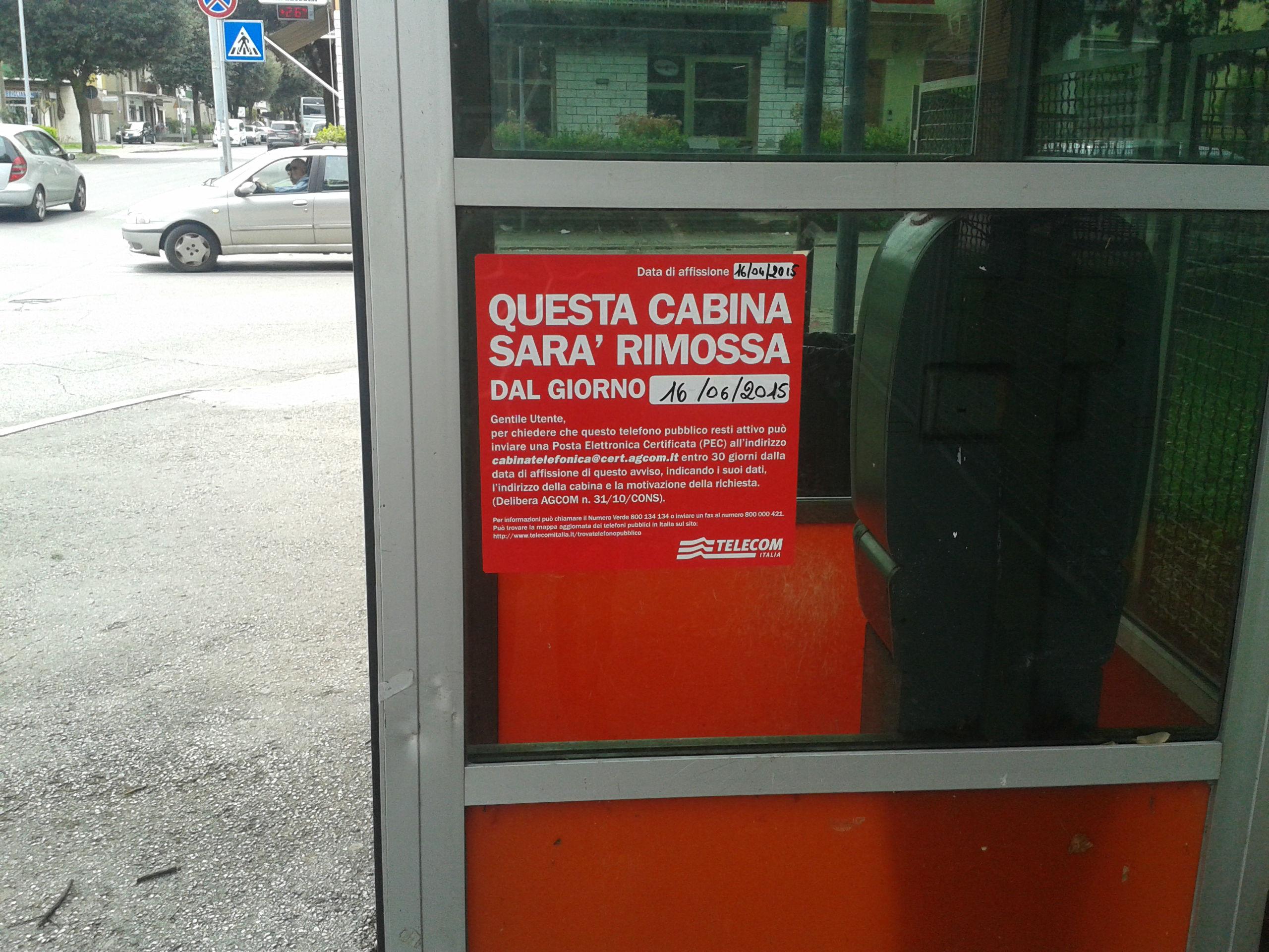 forlì dice addio alle cabine telefoniche « 4live.it - Cabina Telefonica