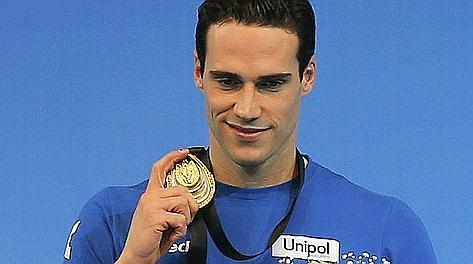 Gold medallist Fabio Scozzoli