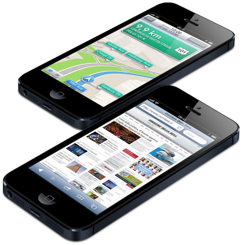 iPhone 5: Mappe e Safari di iOS6